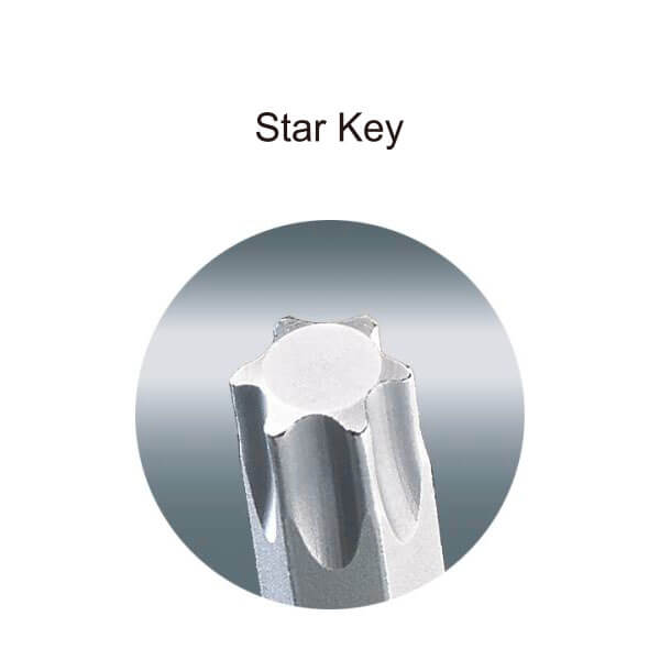 094 Long Arm Star Key Set