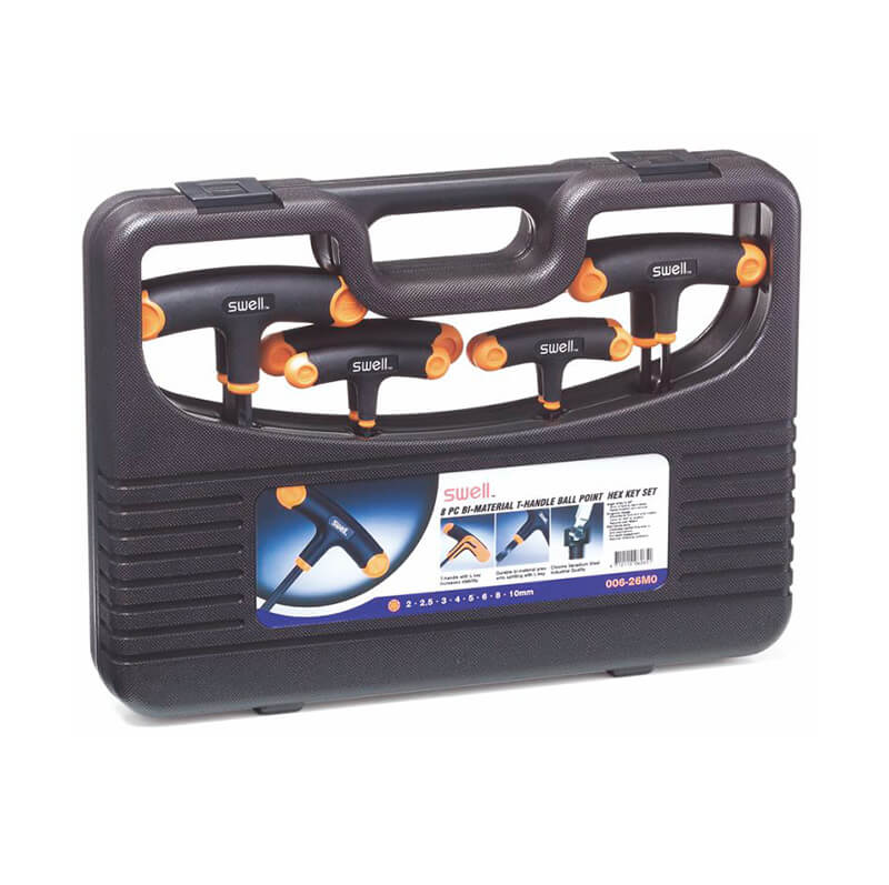 006 Bi-Material  T-Handle Hex Key Set